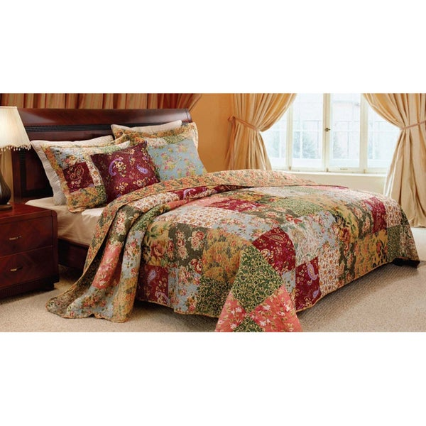 Greenland Home Fashions Antique Chic Deluxe 5-piece Bedspread Set ... : overstock quilts king - Adamdwight.com