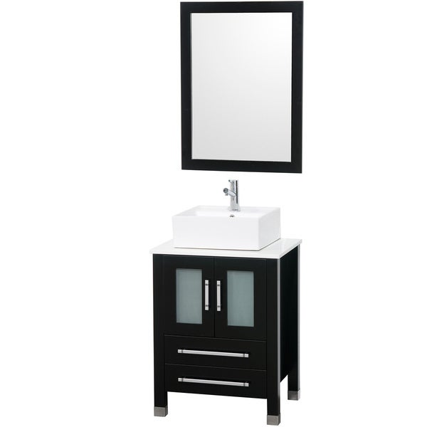 monica  inch espresso bathroom vanity set  free shipping today, Home design