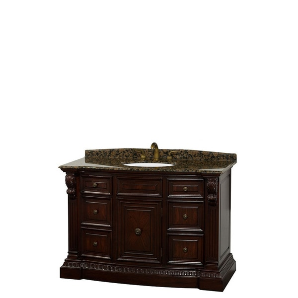Roosevelt 48 inch Cherry Traditional Bathroom Vanity by Wyndham Collection