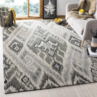 Safavieh Handmade Contemporary Marrakesh Grey Geometric New Zealand Wool Rug with Cotton-Canvas Back