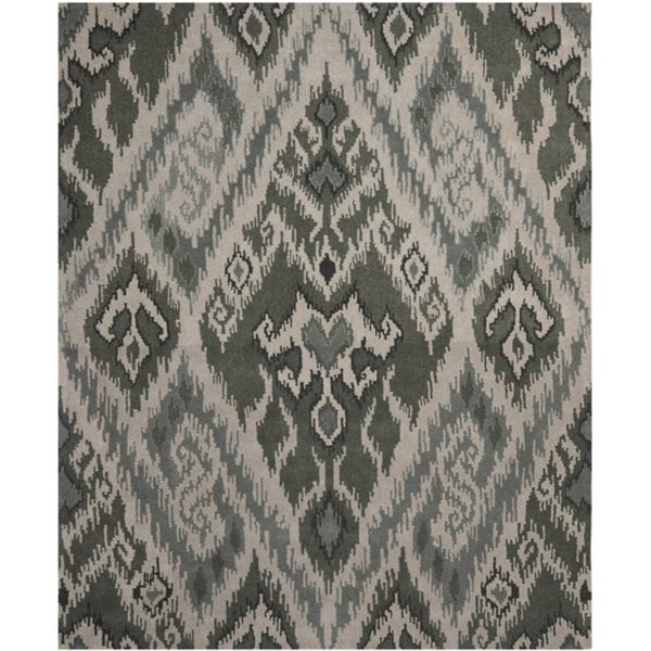 Safavieh Contemporary Handmade Marrakesh Grey New Zealand Wool Rug (8' x 10')