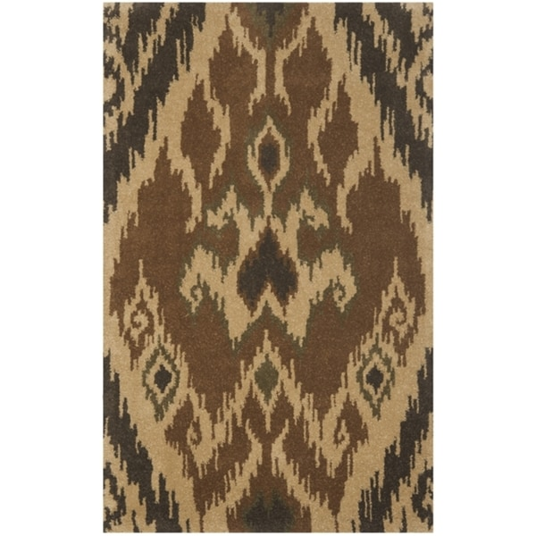 Safavieh Handmade Marrakesh Brown New Zealand Wool Rug (4' x 6')