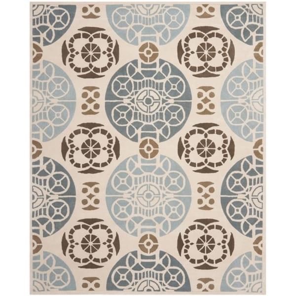 Safavieh Handmade Marrakesh Beige/ Blue New Zealand Wool Rug (6' x 9')