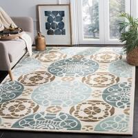 Safavieh Handmade Marrakesh Beige/ Blue New Zealand Wool Rug - 6' x 9'