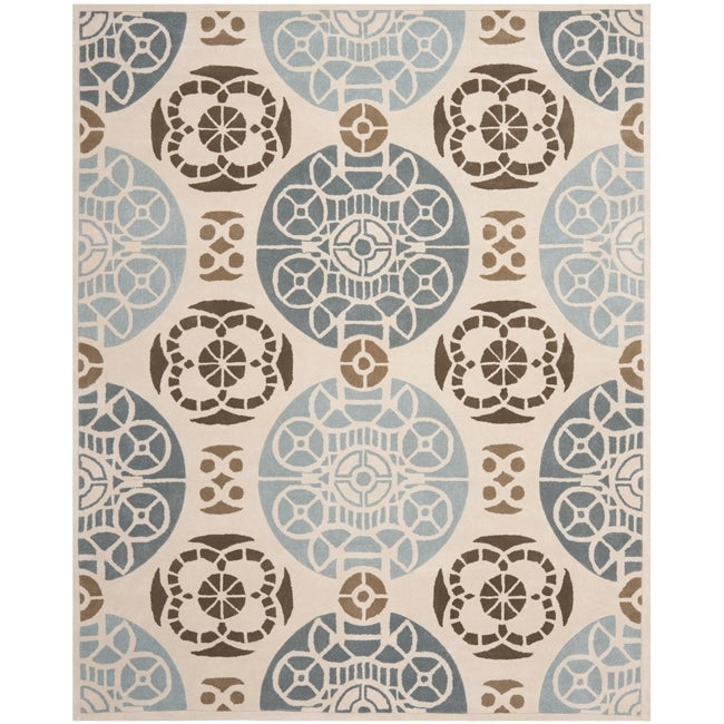 Safavieh Handmade Marrakesh Beige/ Blue New Zealand Wool Rug (8' x 10')