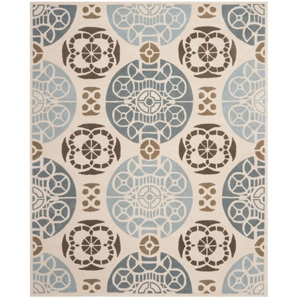 Safavieh Handmade Marrakesh Beige/ Blue New Zealand Wool Rug (8' x 10')