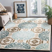 Safavieh Handmade Marrakesh Beige/ Blue New Zealand Wool Rug - 8' x 10'