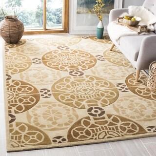 Safavieh Handmade Marrakesh Beige/ Gold New Zealand Wool Rug (3' x 5')