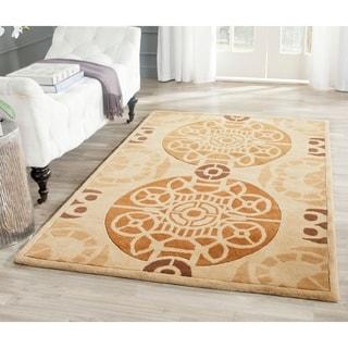 Safavieh Handmade Marrakesh Beige/ Gold New Zealand Wool Rug (4' x 6')
