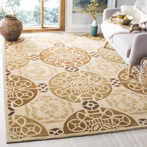 Safavieh Handmade Marrakesh Beige/ Gold New Zealand Wool Rug (6' x 9')