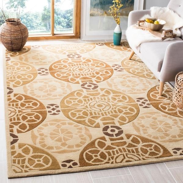 Safavieh Handmade Marrakesh Beige/ Gold New Zealand Wool Rug - 8' x 10'