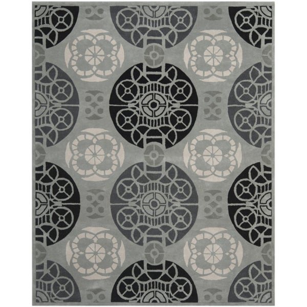 Safavieh Handmade Marrakesh Grey/ Black New Zealand Wool Rug (8' x 10')