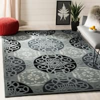Safavieh Handmade Marrakesh Grey/ Black New Zealand Wool Rug - 8' x 10'