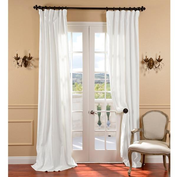 Exclusive Fabrics White Belgium Linen Curtain Panel