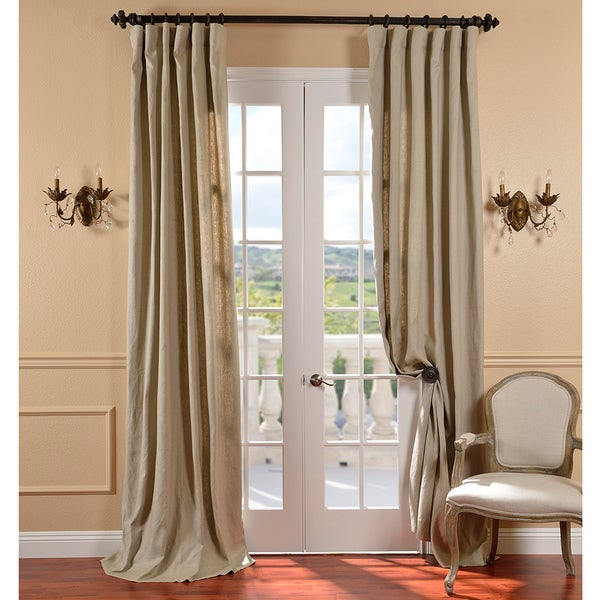 Exclusive Fabrics Belgium Linen Natural Curtain Panel
