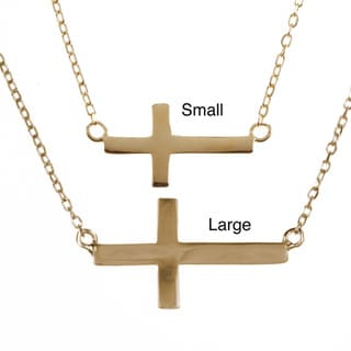 La Preciosa Sterling Silver Sideways Cross Necklace