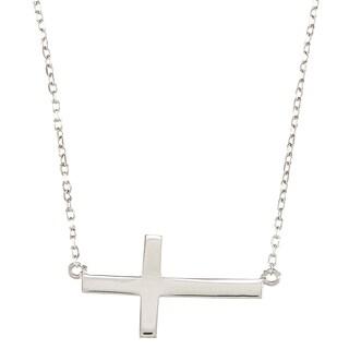 La Preciosa Sterling Silver Sideways Cross Necklace (4 options available)