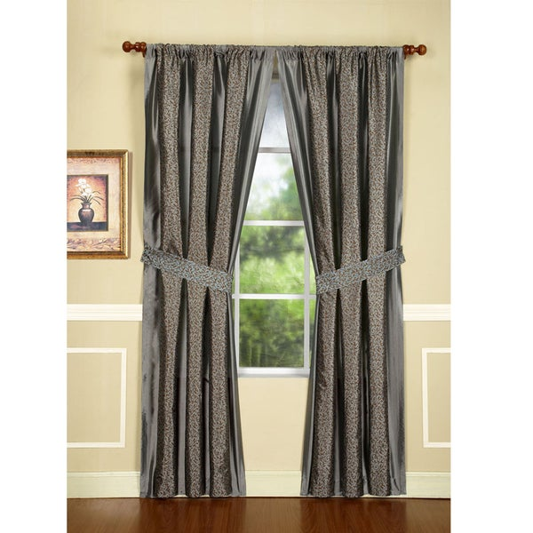 Maxton Mercury 84-Inch Drapery Panel Pair
