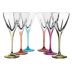 Lorren Home Trend Logic Multicolor Wine Goblets (Set of 6)|https://ak1.ostkcdn.com/images/products/7154288/Lorren-Home-Trend-Logic-Multicolor-Wine-Goblets-Set-of-6-P14645764.jpg?impolicy=medium