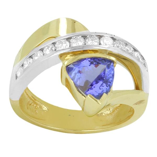 14k Two-tone Gold Tanzanite and 1/2ct TDW Diamond Ring (H-I, SI1-SI2 )