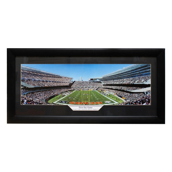 hot sale online df192 fd663 Chicago Bears Soldier Field 'First Day Game' Panoramic Frame