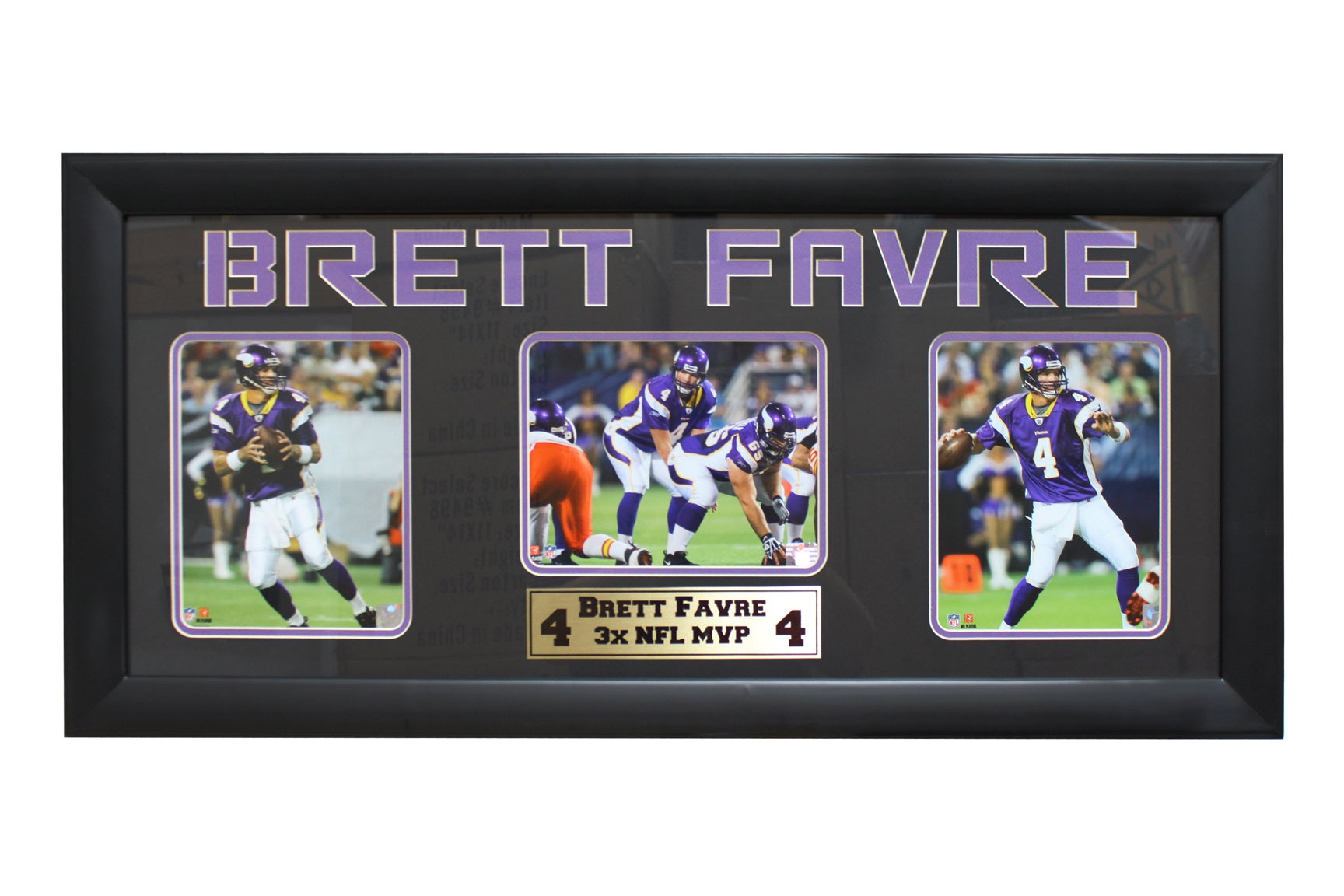 Brett Favre Minnesota Vikings Three-Photo Frame