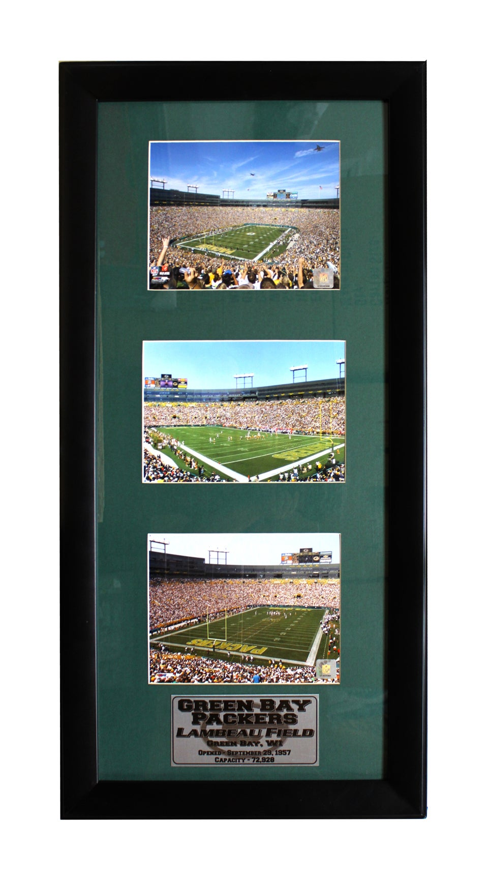 Green Bay Packers Lambeau Field Three-Photo Frame
