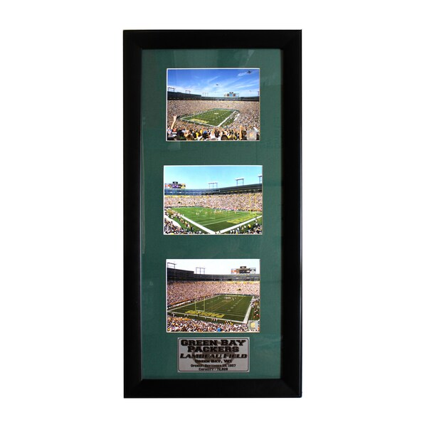 Green Bay Packers Lambeau Field Three-Photo Frame