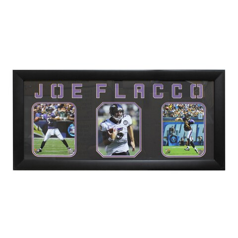 Joe Flacco Baltimore Ravens Three-Photo Frame