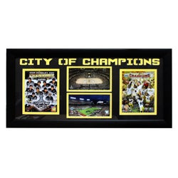 Pittsburgh 'City of Champions' Steelers and Penguins Four-Photo Frame