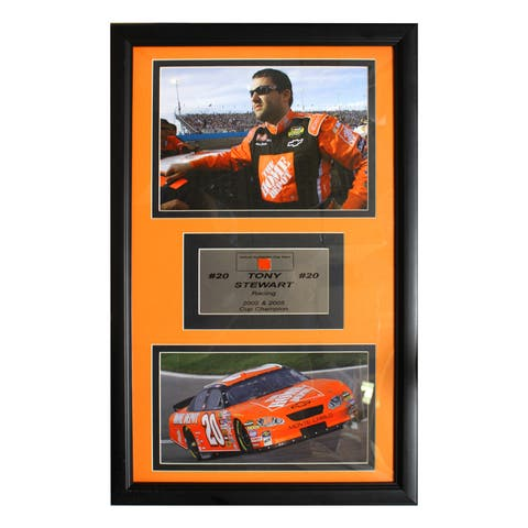 Tony Stewart Authentic Car Part Double Photo Frame