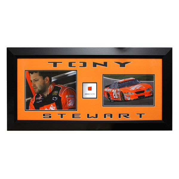 NASCAR Champion Tony Stewart Authentic Piece Frame