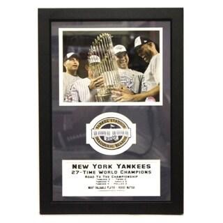 New York Yankees 2009 World Series Champions Stadium Patch Frame