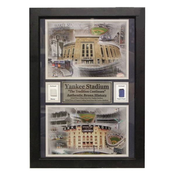 New York Yankees Yankee Stadium Game Used Double Photo Frame