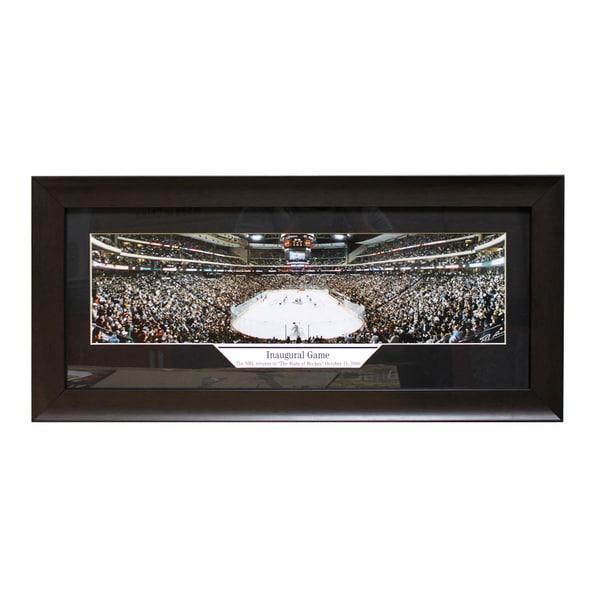 Minnesota Wild 'Inaugural Game 2000' Panoramic Frame