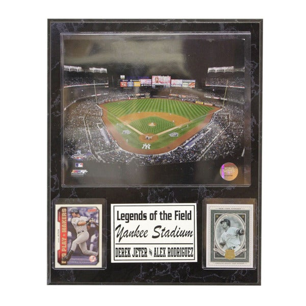 New York Yankees Derek Jeter and Alex Rodriguez 'Legends of the Field' Stat Plaque