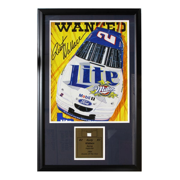 Rusty Wallace Authentic Car Part Frame
