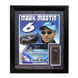 Mark Martin Authentic Car Part Frame