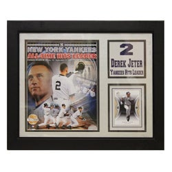 New York Yankees Derek Jeter Deluxe Stat Frame