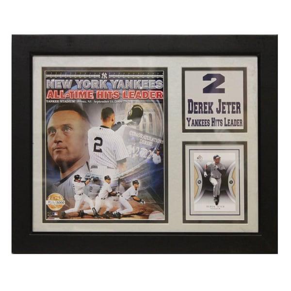 New York Yankees Derek Jeter Deluxe Stat Frame