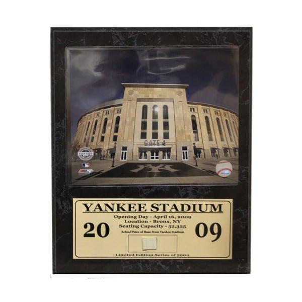 New Yankee Stadium Game Used Stat Plaque