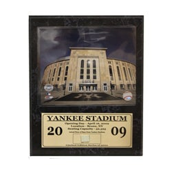 New Yankee Stadium Game Used Stat Plaque