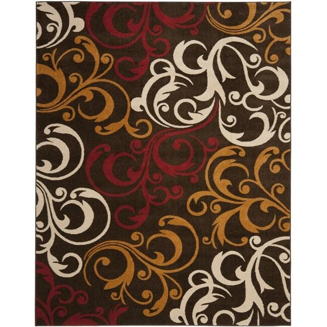 Safavieh Newbury Scrolls Brown/ Gold Rug (8' x 10')