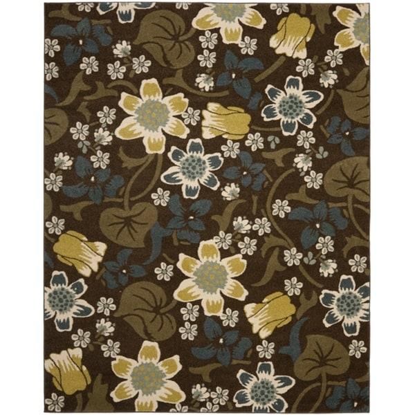 Safavieh Newbury Botanical Brown/ Yellow Rug (8' x 10')