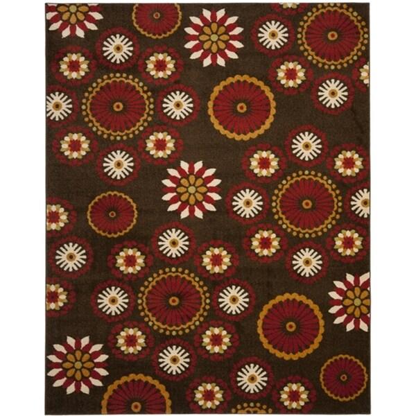 Safavieh Newbury Gardens Brown/ Red Rug (8' x 10')