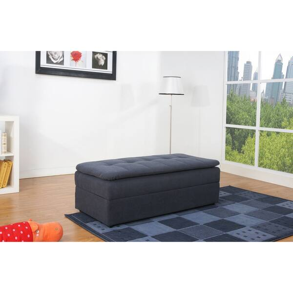 Outstanding Shop Denver Steel Finish Double Ottoman Sectional Sofa Bed Pabps2019 Chair Design Images Pabps2019Com