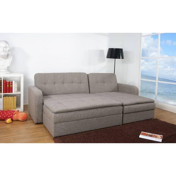 Shop Denver Rind Finish Double Cushion Storage Sectional ...