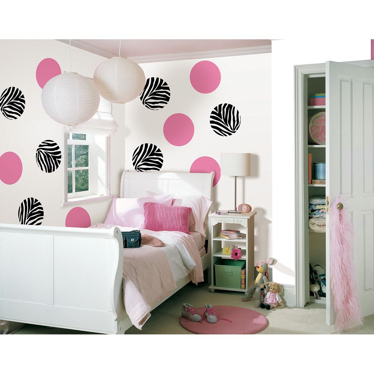 Wall Pops 'Go Wild Zebra and Flirt Pink Dots' Wall Decal Set