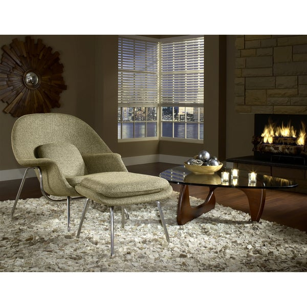 Eero Saarinen Style Chair and Ottoman Set