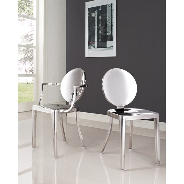 shop philippe starck polished stainless steel louis and victoria ghost chairs set free. Black Bedroom Furniture Sets. Home Design Ideas